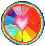 Rainbow Heart Mandala