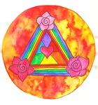 Triple Rose Heart Shield