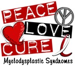 Peace Love Cure 1 MDS Shirts and Gif
