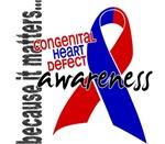 Awareness 1 Congenital Heart Defect Tees