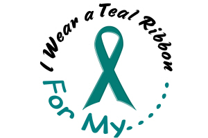 I Wear A Teal Ribbon 4