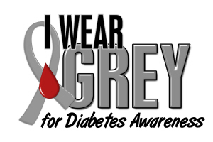 I Wear Grey 10 (Diabetes)