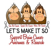 See Speak Hear No Brain Cancer 2 T-Shirts & Gifts