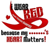 I Wear Red Heart Disease T-Shirts & Gifts
