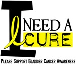 I Need A Cure BLADDER CANCER T-Shirts & Apparel