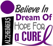 BELIEVE DREAM HOPE Alzheimer's Disease Shirts & Gi