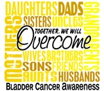 Family Square Bladder Cancer T-Shirts Merchandise