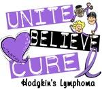 Unite Believe Hodgkin's Lymphoma T-Shirts Gifts