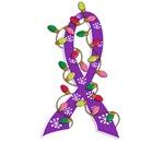 Christmas Lights Ribbon Pancreatic Cancer Gifts