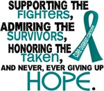 © Supporting Admiring 3.2 Ovarian Cancer Shirts