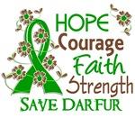 Hope Courage Faith Darfur Shirts