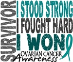 Survivor 4 Ovarian Cancer Shirts and Gifts