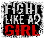 Licensed Fight Like a Girl 31.8 Lung Cancer Shirts