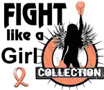 Licensed Fight Like a Girl Collection Uterine Canc
