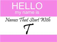 Names That Start With T