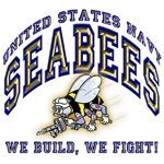US Navy Seabees Blue and Gold