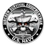 USN Aircrew Survival Equipmentman Skull
