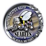 USN Seabees We Build We Fight Metal