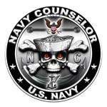USN Navy Counselor Skull NC