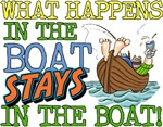 STAYS IN THE BOAT