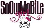 Snowmobile Girl Skull