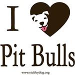 I heart pit bulls square