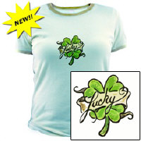 Gettin' Lucky Irish Drinking Shirt