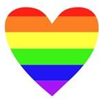 Rainbow Flag Heart T-Shirts & Gifts