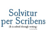 It is solved through writing