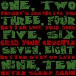 Freddy Krueger Rhyme Shirt