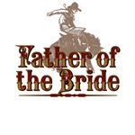 Father of the Bride Western T-Shirts