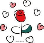 Rose and Hearts