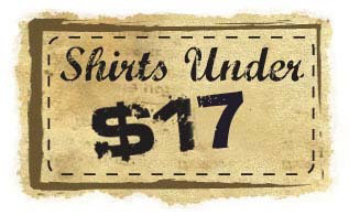 value t SHIRTS under $17