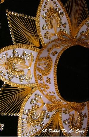 Black and Gold Charro Hat