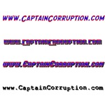 Captain Corruption Bumper Stickers