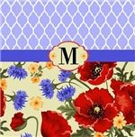 Quatrefoil and Poppies