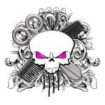 Hairdresser Pirate Skull