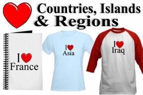 Countries, Islands & Regions