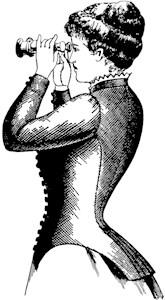 Vintage Woman With Binoculars