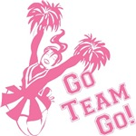 Go Team Go Cheerleader T-shirts
