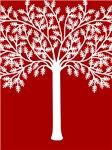 White Tree Graphic T-shirts