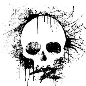 Sprayed Skull