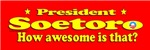 President Soetoro, How Awesome