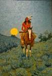Indian Rider : Sunset