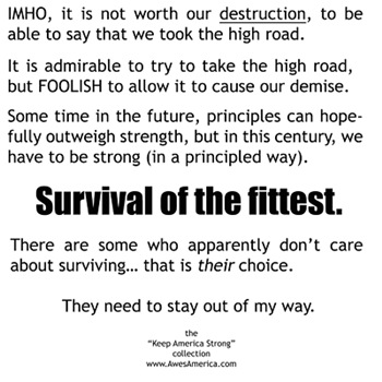 Survival of the fittest (light shirts)
