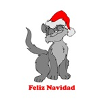 Feliz Navidad - Santa Claus Cat