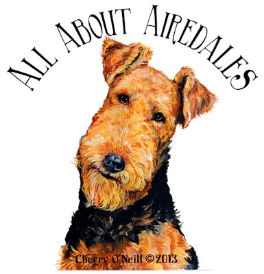 Airedale Terrier Art.