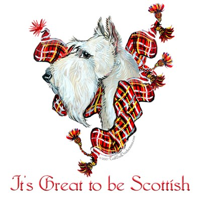 Wheaten Scottish Terrier Art