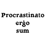 I procrastinate,<br />therefore I am!