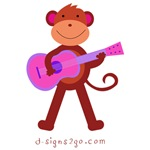 Monkey Guitar Player
